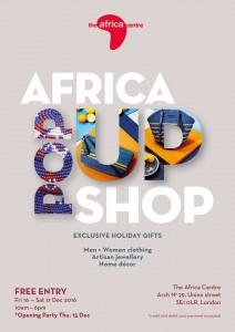 Affiche de l'Africa Center - Africa Pop Up shop