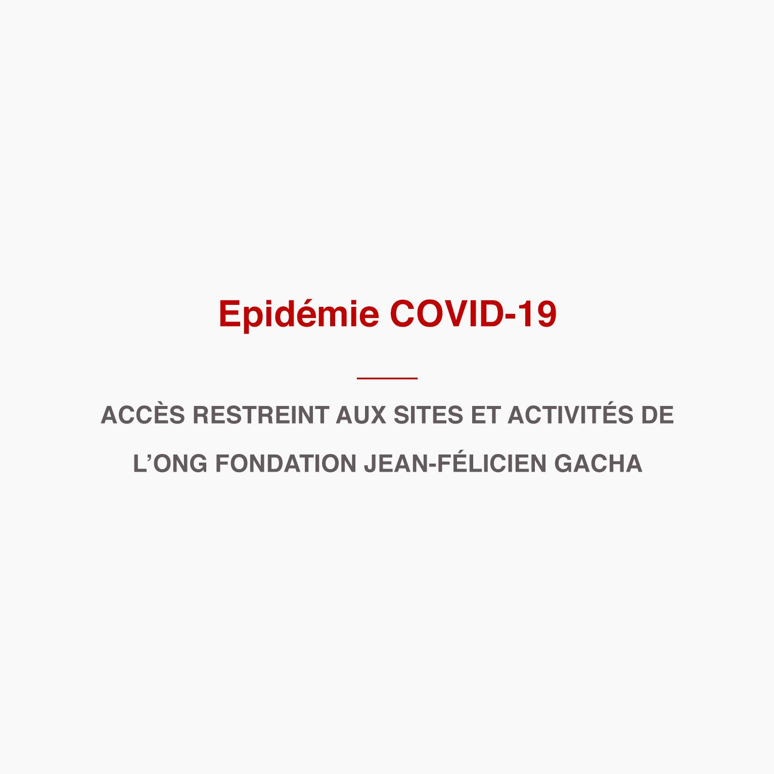 IMPORTANT : épidémie COVID-19