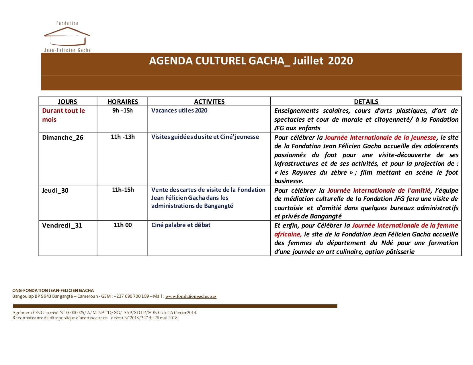 Agenda culturel estival : le mois de juillet