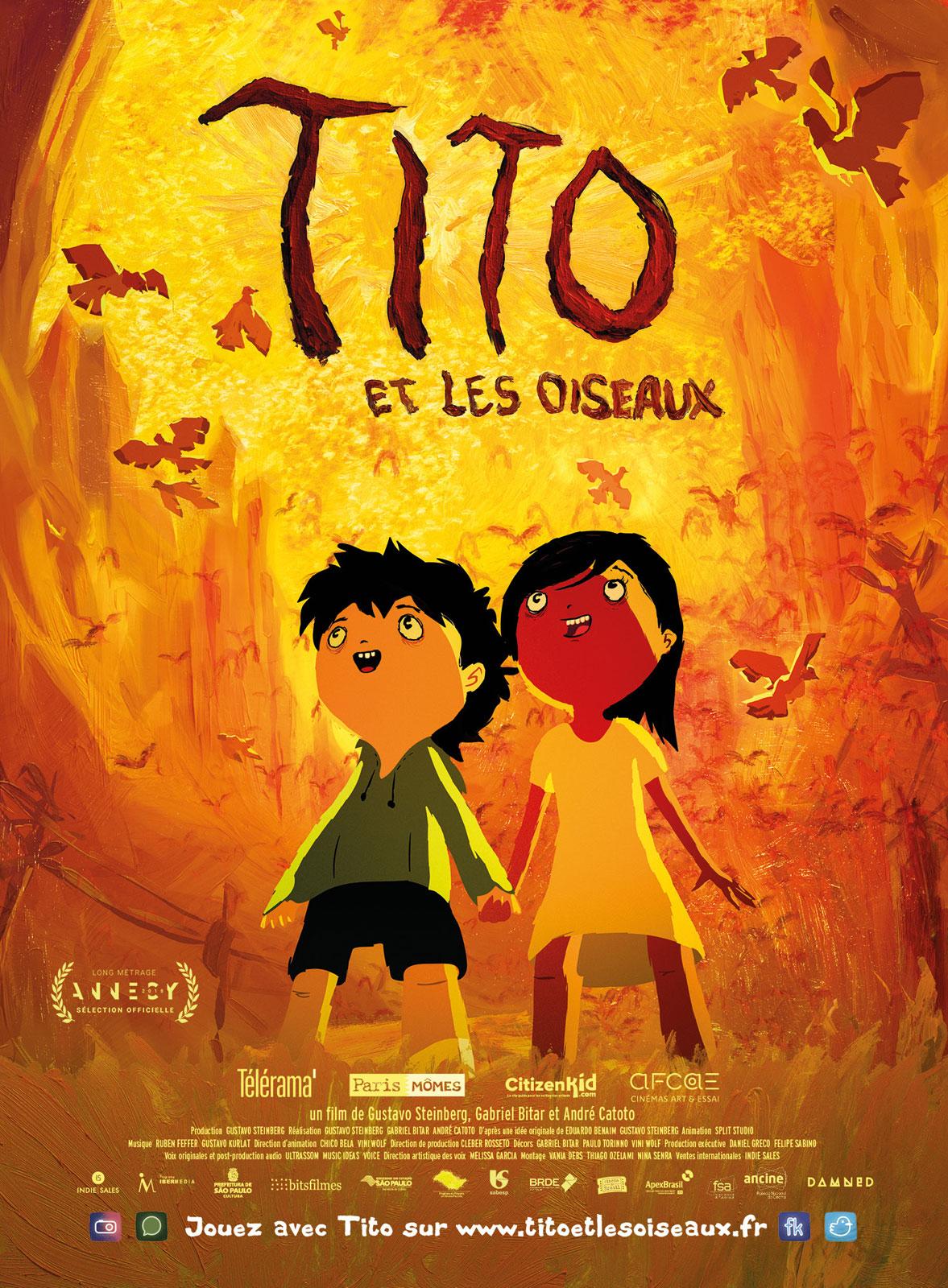 CINÉ JEUNESSE : PROJECTION DU FILM D'ANIMATION « TITO ET LES OISEAUX » DE GUSTAVO STEINBERG