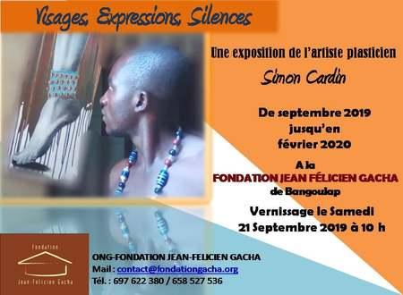 «Visages, expressions, silences» une exposition par l'artiste plasticien Simon Cardin.